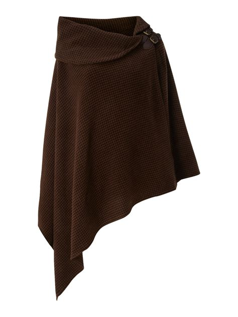 Lauren By Ralph Lauren Bridle Poncho Shawl with Buckle in