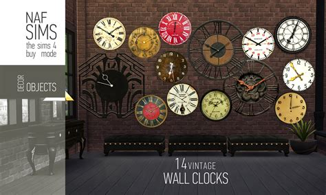 Mod The Sims - Vintage Wall Clock
