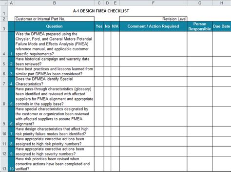 APQP Checklists in Excel | Compatible with AIAG APQP 4th Ed