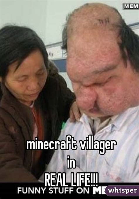 minecraft villager in REAL LIFE!!!