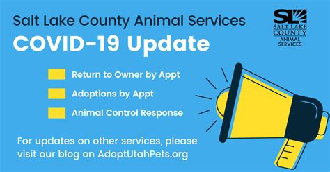 Covid-19 Operational Updates - Animal Services | SLCo