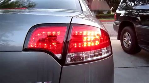 Audi A4 S4 RS4 B7 Red-Clear LED tail lights 05-08 - YouTube