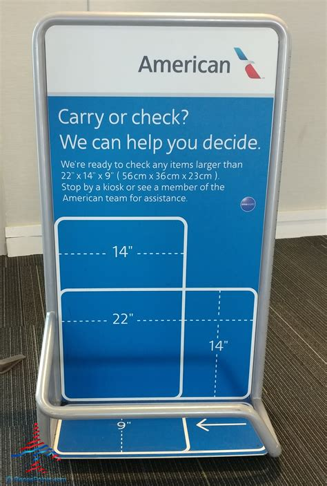 What is the United and American Airlines carryon bag check