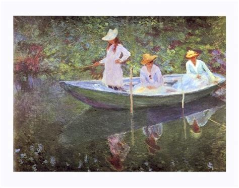 'The Boat at Giverny' Giclee Print - Claude Monet