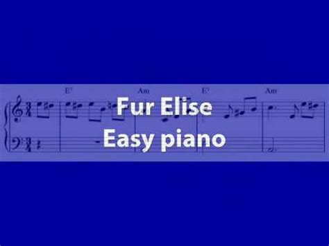 Fur Elise - Free sheet music for easy piano - YouTube