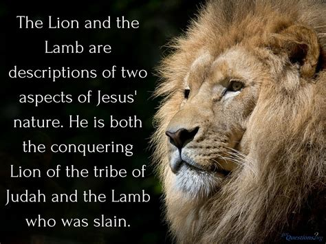 How should we understand the Lion and the Lamb passage?