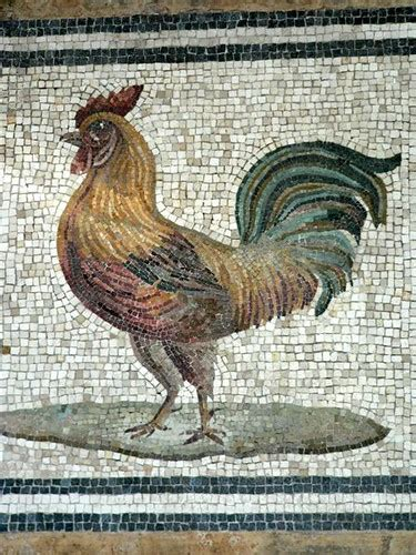 Rooster Mosaic   Photographed at the National Museum of