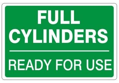 FULL CYLINDERS Sign - READY FOR USE