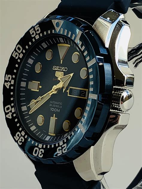 Seiko 5 Sports Automatic Blue Dial 'Blue Monster' Blue