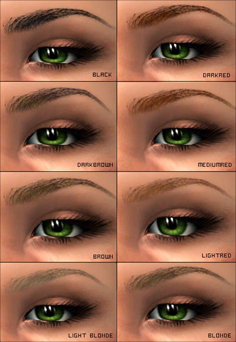 Mod The Sims - Perfect eyebrows
