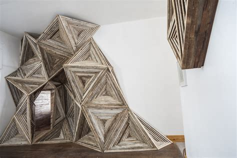 Artist Transforms Salvaged Wood Into Fascinating Geometric