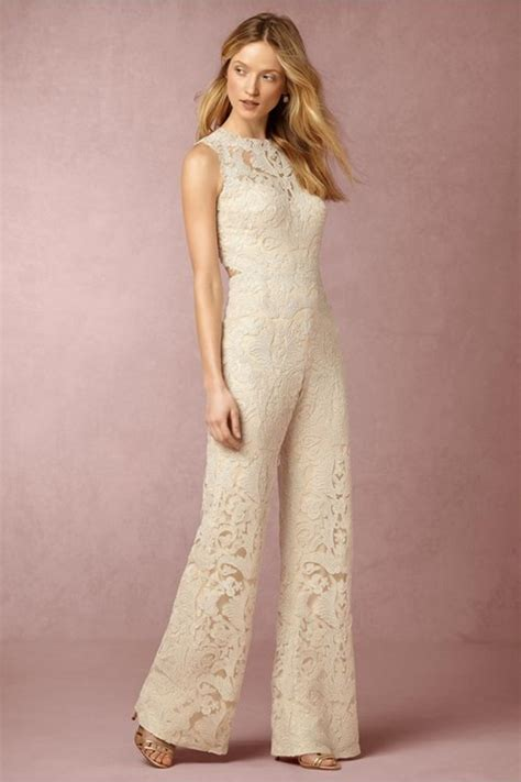 White Bridal Jumpsuits 2016-2017: New Elegance For Your