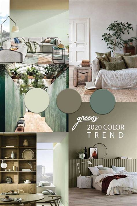 Green wall paint COLOR TREND 2020 in 2020 | Green painted