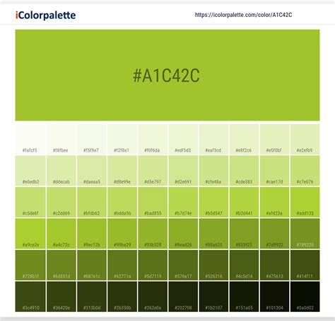 Hex Color Code #a1c42c | Pantone 14-0452 Tpx Lime Green
