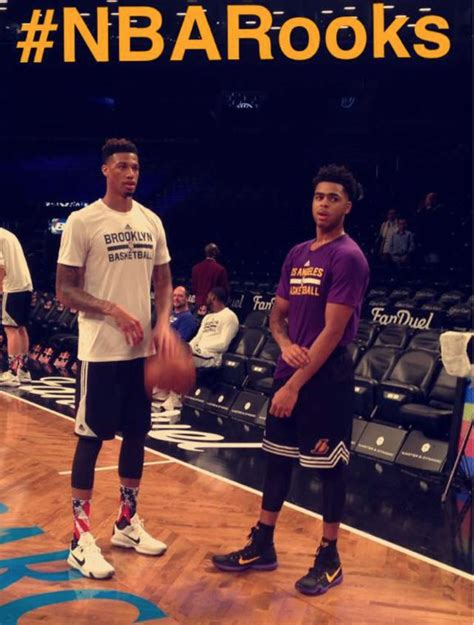 #NBARooks D'Angelo Russell of the Lakers and Chris