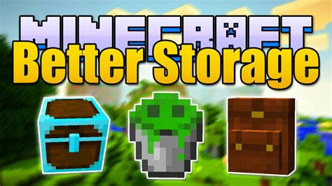 Minecraft BETTER STORAGE Mod - Backpacks & Better Chests