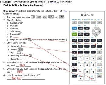 Getting to Know your TI-84 Plus CE Calculator by