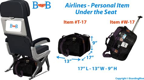 Airlines Personal Item/under seat