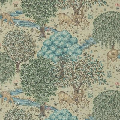 William Morris & Co Tapet The Brook Linen - systerlycklig