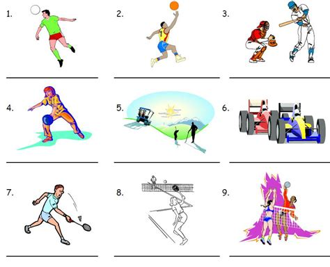 Learning English with pictures - Sport