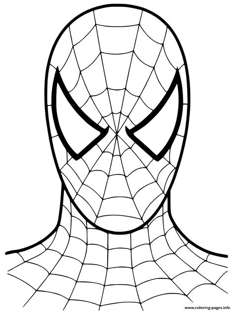 Spiderman Cartoon Mask 2002 Coloring Pages Printable