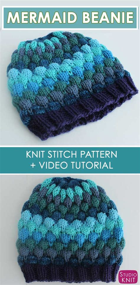 Bubble Beanie Hat Knitting Pattern with Video Tutorial